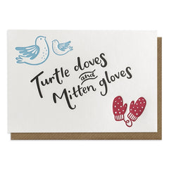 Turtle Doves and Mitten Gloves Card