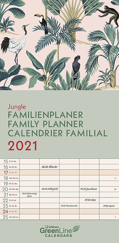 Jungle 2021 Family Planner