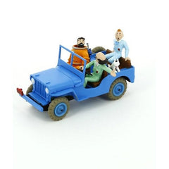 Tintin Blue Jeep