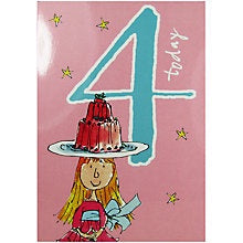 4 Today Quentin Blake Birthday Card for her