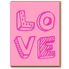 Pink Neon Love Valentine's Day Card
