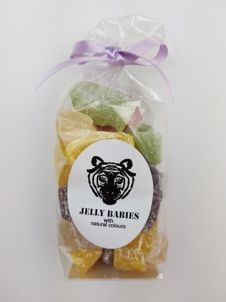 Paper Tiger Jelly Babies in a Ribboned Bag