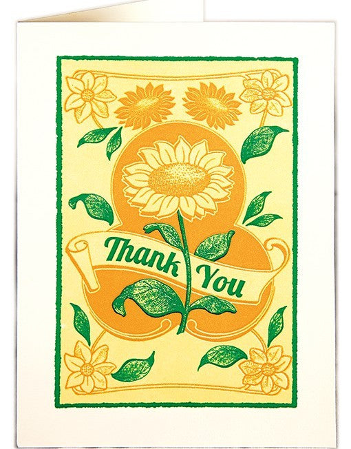 Thank You Card - Sunflowers
