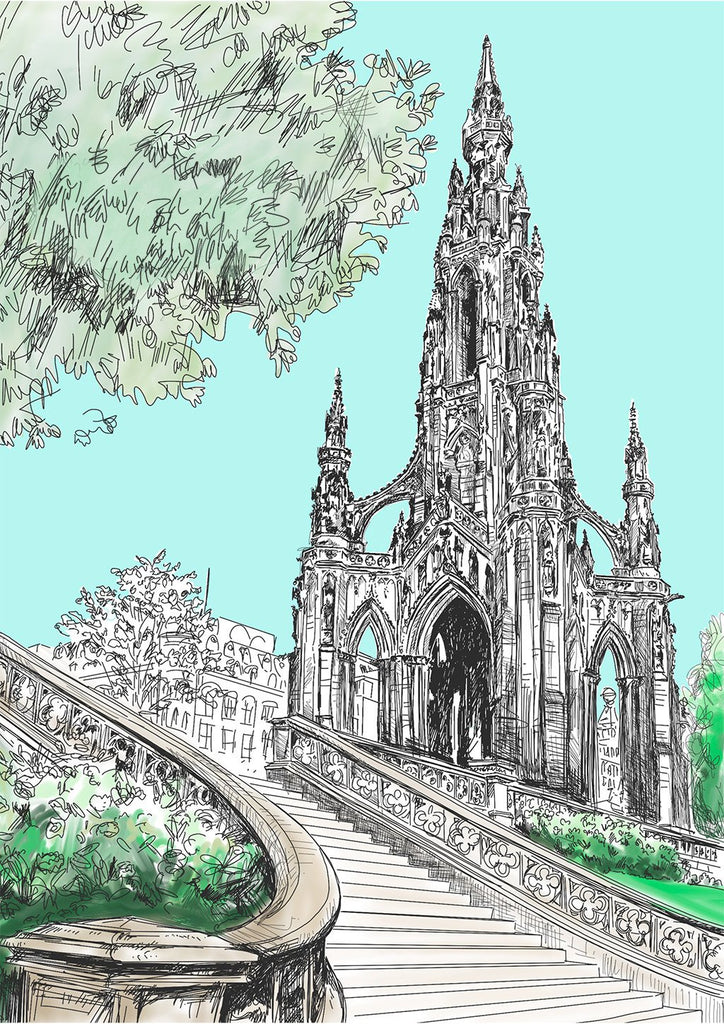 Scott Monument Card