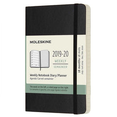 Moleskine 2019/20 Black Academic Pocket Diary Soft Cover