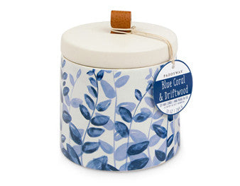 Paddywax Botany Blue Coral & Driftwood Ceramic Candle
