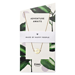 Adventure Awaits Compass Necklace Gold-Plated