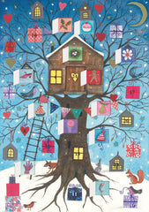Tree House Advent Card