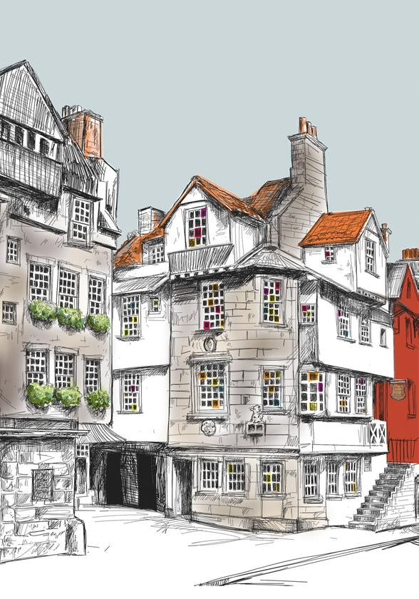 John Knox House Edinburgh Card