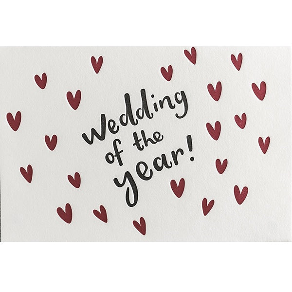 Wedding of the Year Letterpress Card