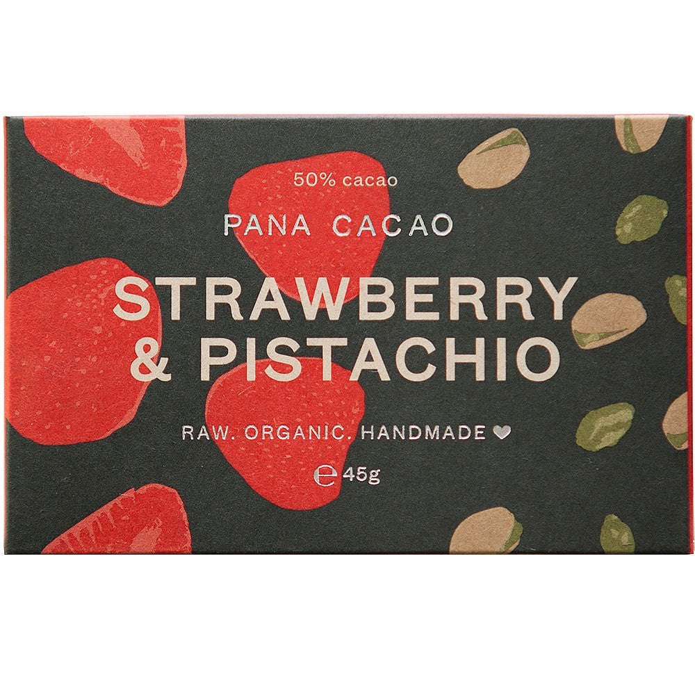 Strawberry and Pistachio Organic Chocolate