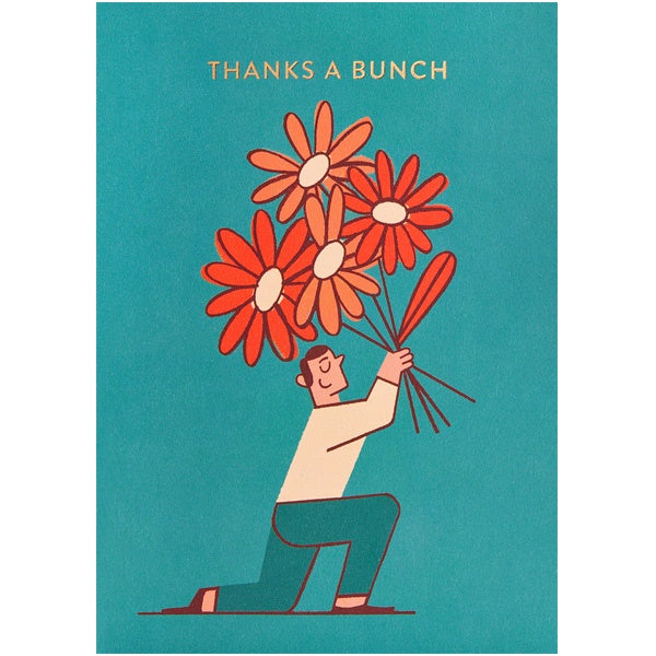 Thanks A Bunch Flowers Card