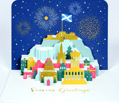 Edinburgh Skyline Christmas Pop-Up Box of 5 Cards