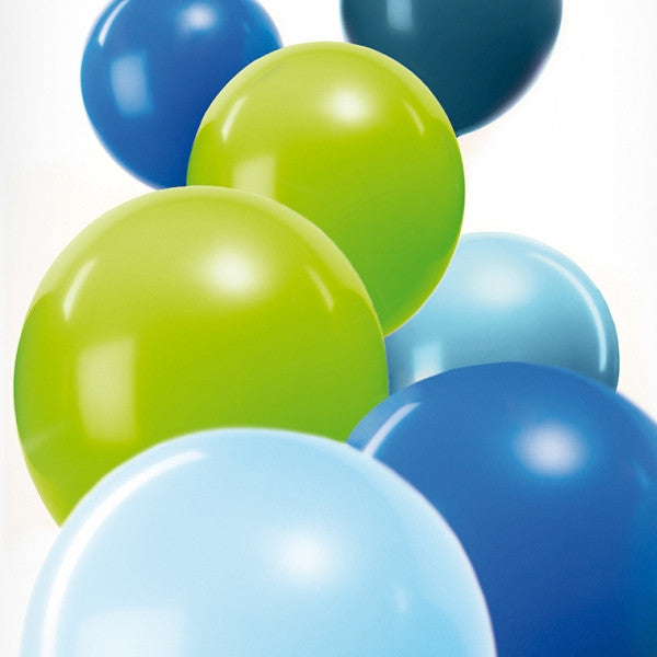 Aqua Mix Pack of 12 Balloons