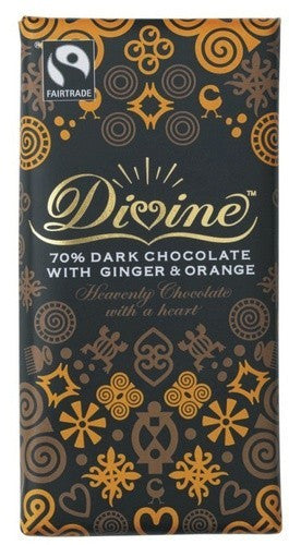 Divine Ginger and Orange Dark Chocolate