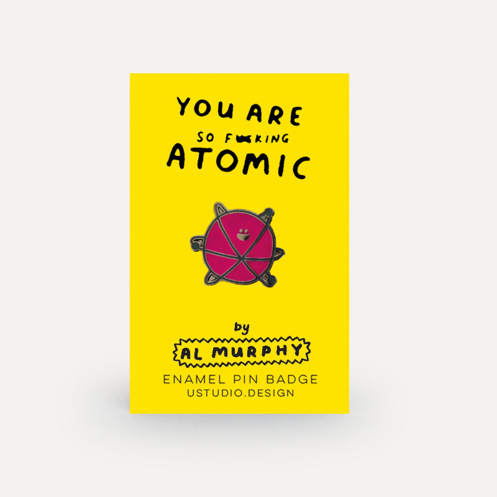 Al Murphy Pin Badge Atomic Atom