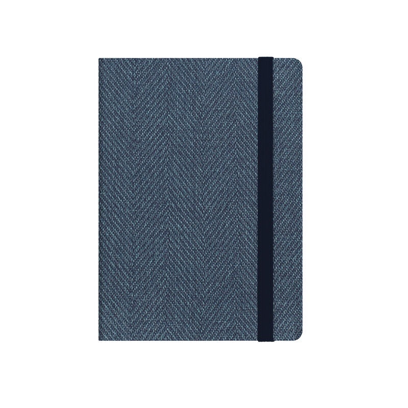 Small Weekly Diary 2020/ 2021 Blue Tweed