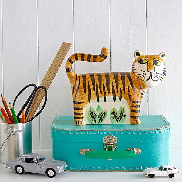 Ceramic Tiger Money Box
