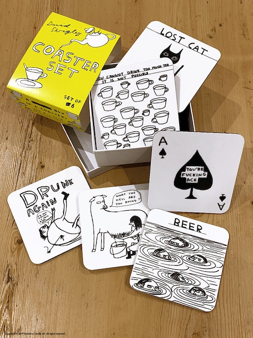 David Shrigley Coaster Set