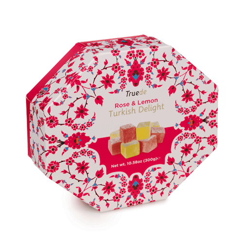 Truede Rose and Lemon Turkish Delight Tin 125g