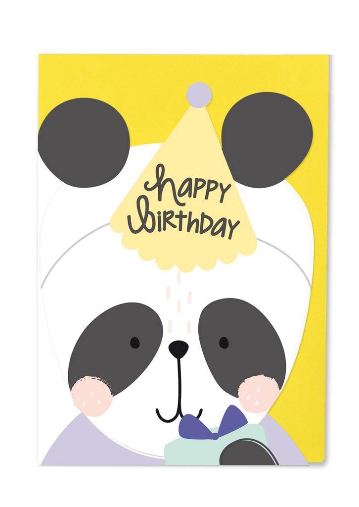 Happy Birthday Panda Cut Out Card