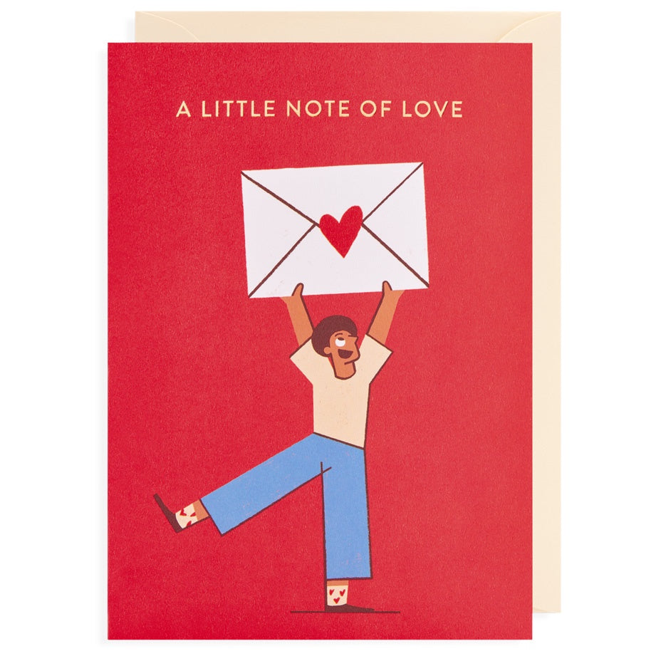 A Little Note of Love Envelope Card