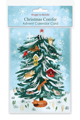 Christmas Conifer Advent Card
