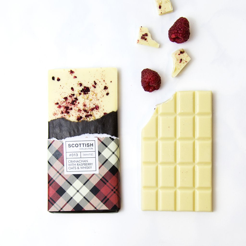 Cranachan With Raspberry, Oats & Whisky White Chocolate Bar 100g
