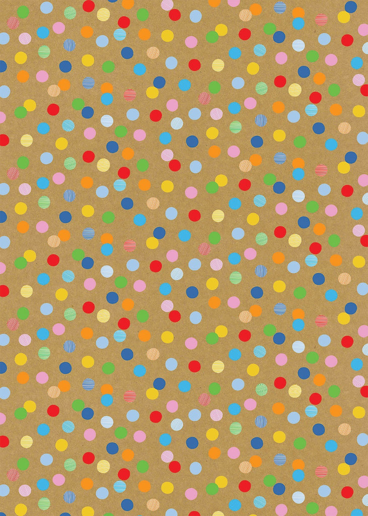 Colour Dot Craft Gift Wrap