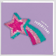 You're A Superstar Sequin Patch Card
