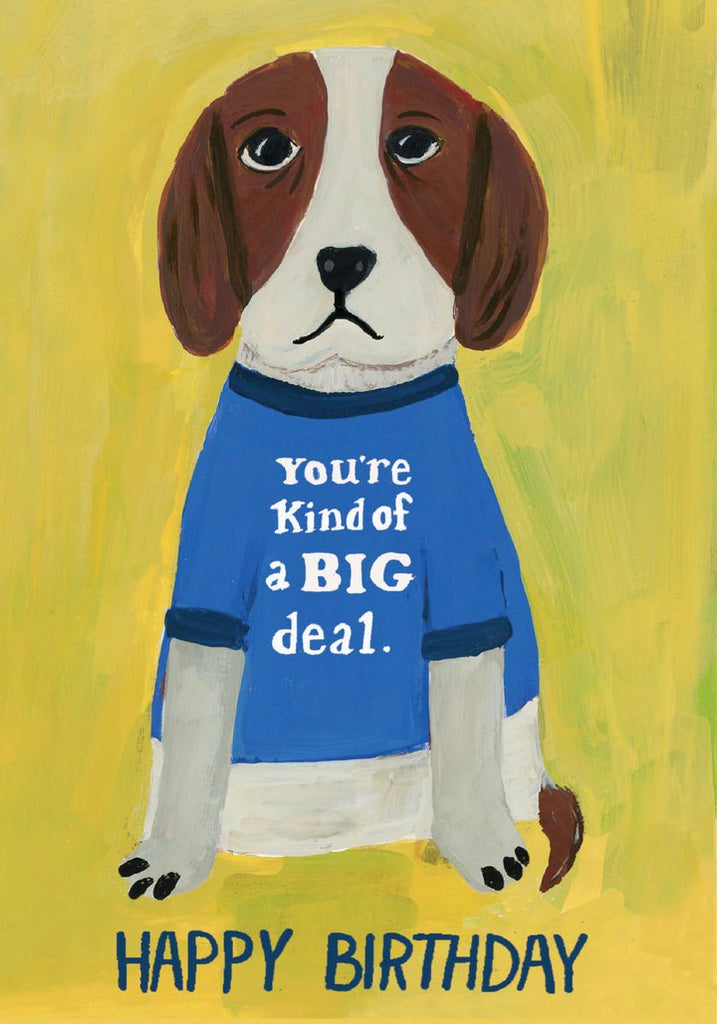 Big Deal Dog Birthday Card
