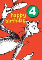 Cat in the Hat Four Badge Card