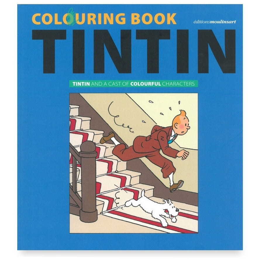 Colouring book - tintin and friends