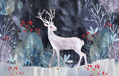 Silver Stag Christmas Card Pack