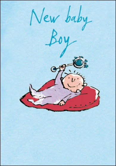 Quentin Blake New Baby Boy Card