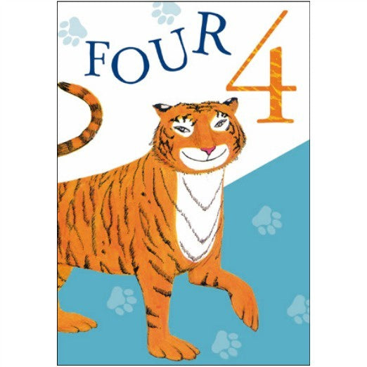 The Tiger who Came to Tea 4th Birthday Card