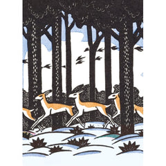V&A Deer Greetings Pack of 8 Cards