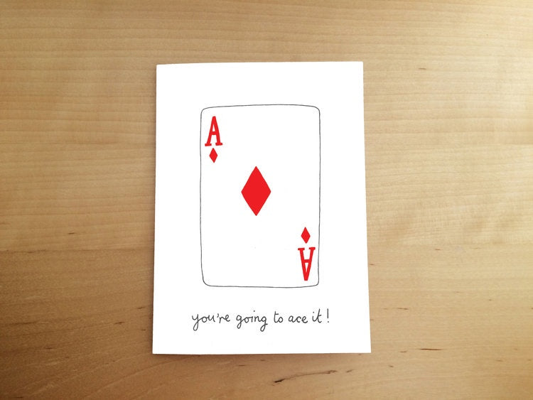 You're Going To Ace It Card