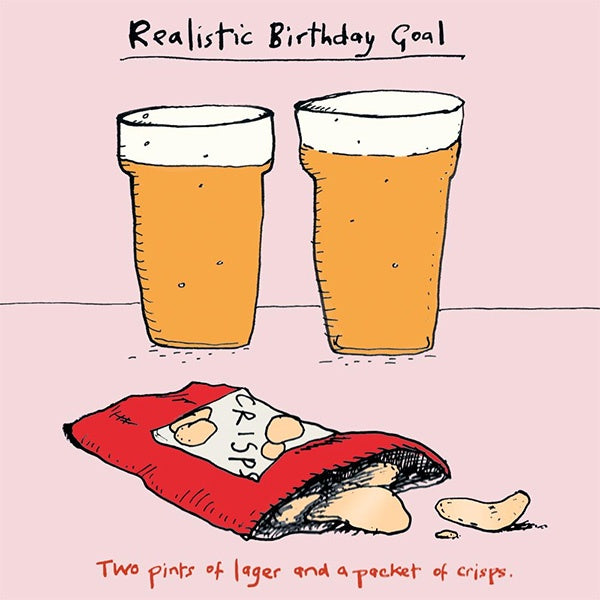 Realistic Birthday Goals Card