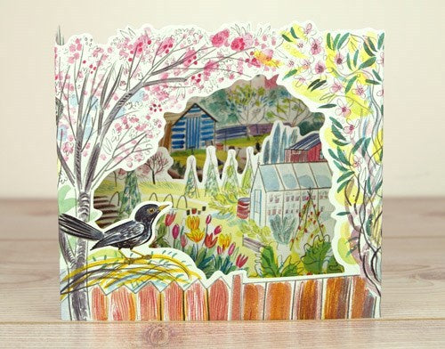 Blackbird Allotment 3D Card