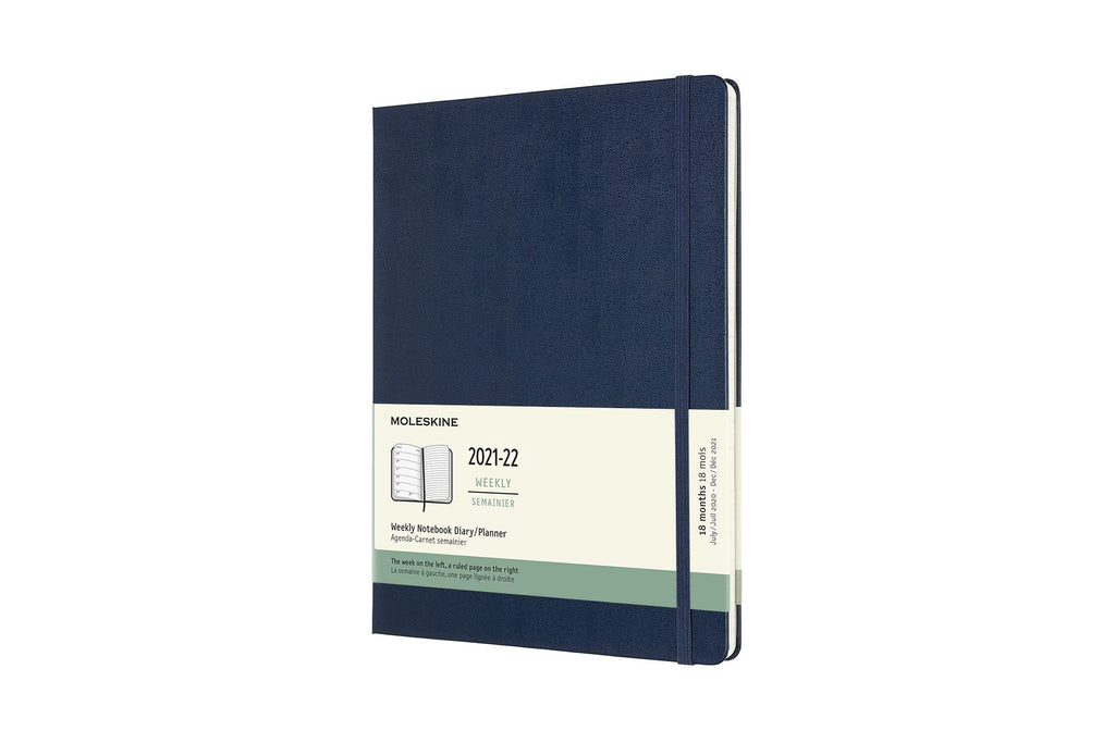 2021-22 Weekly Planner XL Hardcover Sapphire Blue