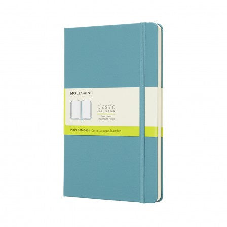 Moleskine Large Hardback Plain Notebook Reef Blue