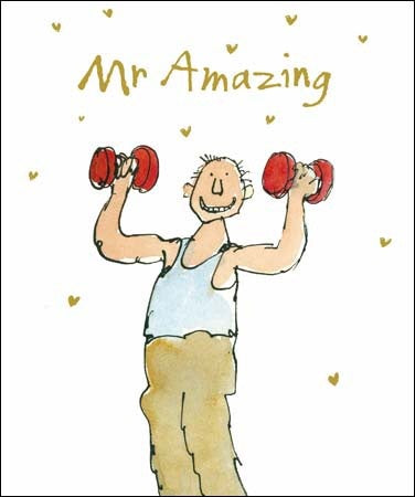 Mr Amazing Weight Lifting Card