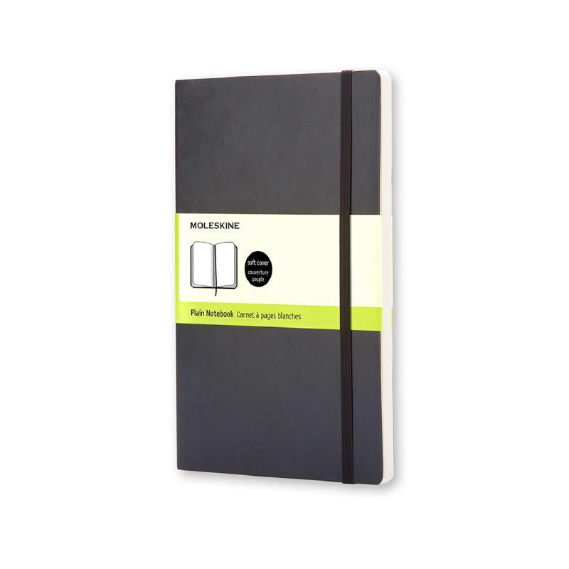 Moleskine Classic Black Large Plain Soft Notebook