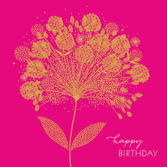 Happy Birthday Flower Head Card