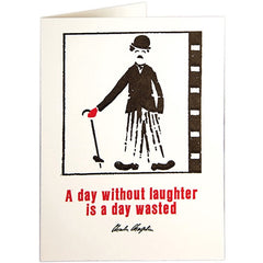 A Day Without Laughter Charlie Chaplin Card