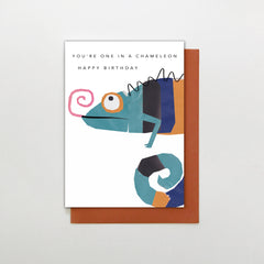 You're One In A Chameleon Happy Birthday Card