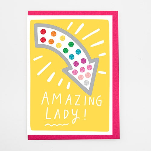 Amazing Lady Card