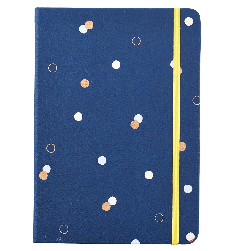 Busy B Busy Life Notebook A5 Navy Faux Leather