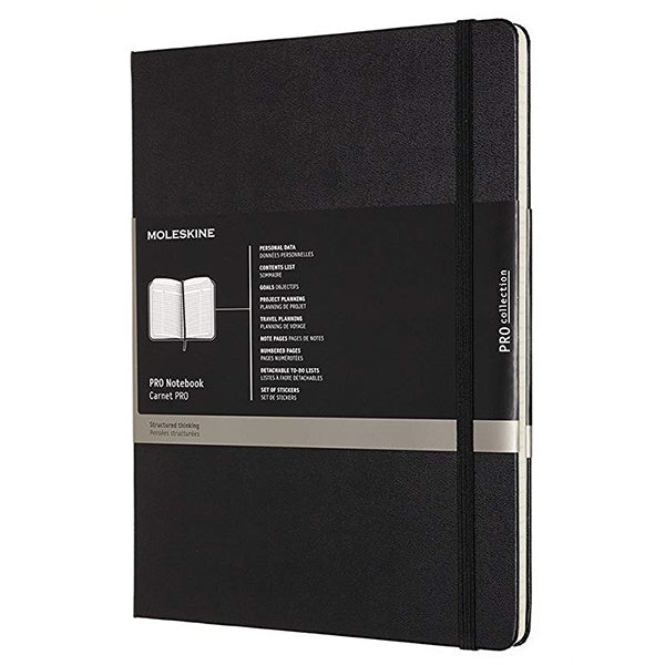 Moleskine Professional Notebook Extra Large Black Hard Cover